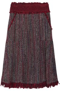 Tory Burch Skirt burgundy, black and white