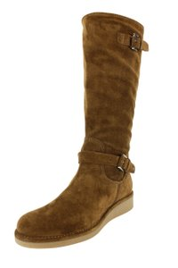 Emporio Armani Winter Suede Women Brown Boots