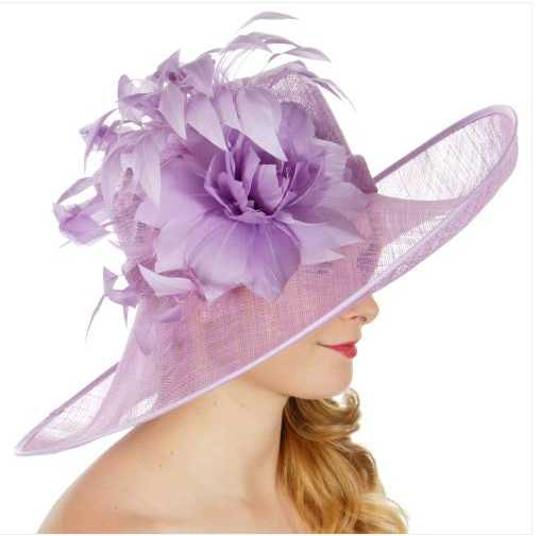 kentucky derby hat Formal Flower Sinamay Hat Kentucky Derby Dressy Church Image 1