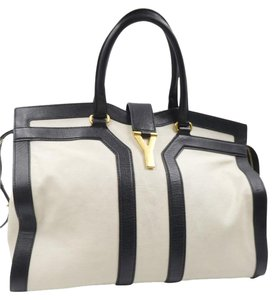 Saint Laurent Ysl Satchel in White , Black