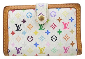 Louis Vuitton Authentic Louis Vuitton White Multi-colored Wallet