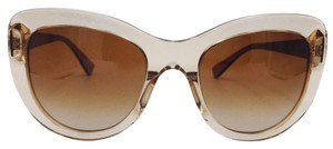 Versace Stylish Transparent Brown Cat Eye Sunglasses 4325-A 5215/13