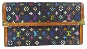Louis Vuitton Louis Vuitton Black Monogram Multicolore Long Wallet
