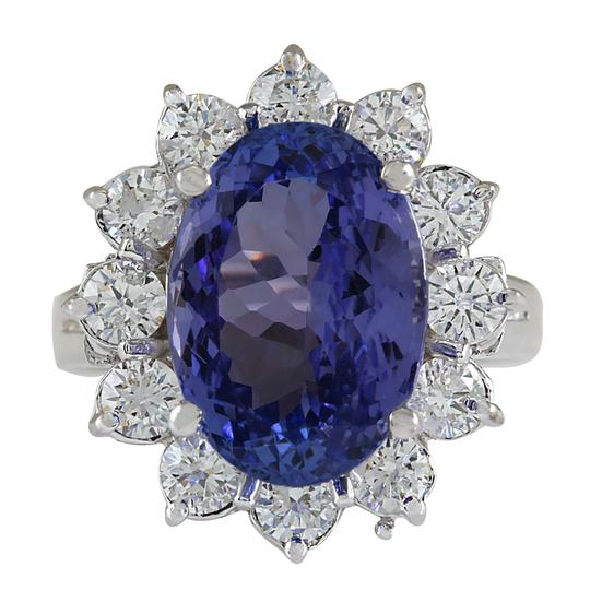 Preload https://img-static.tradesy.com/item/21356613/703ctw-natural-blue-tanzanite-and-diamond-in-14k-white-gold-ring-0-0-540-540.jpg