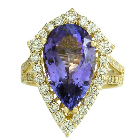 Preload https://img-static.tradesy.com/item/21356641/blue-816-carat-natural-tanzanite-14k-yellow-gold-diamond-ring-0-0-540-540.jpg
