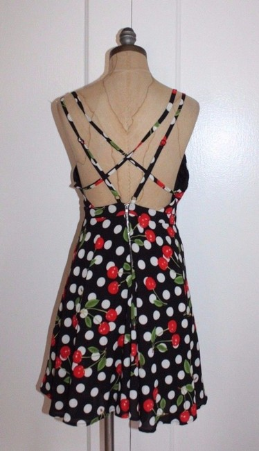Everly short dress MULTI Cherry Crisscross Strap Fit And Flare on Tradesy Image 1