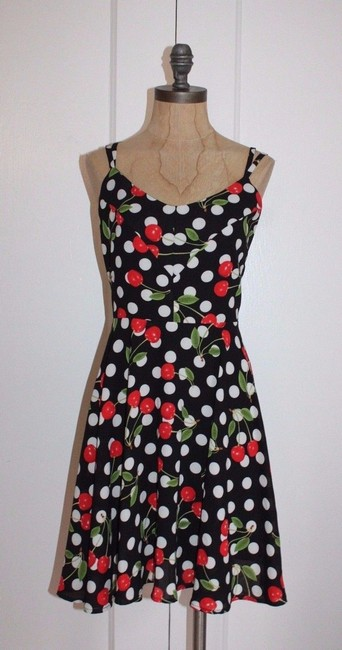Everly short dress MULTI Cherry Crisscross Strap Fit And Flare on Tradesy Image 5