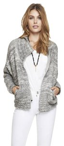 Express Boucle Sweater Gray Jacket