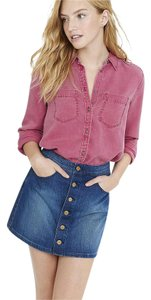 Express Silky-soft Pink Boyfriend Top Pink Heather