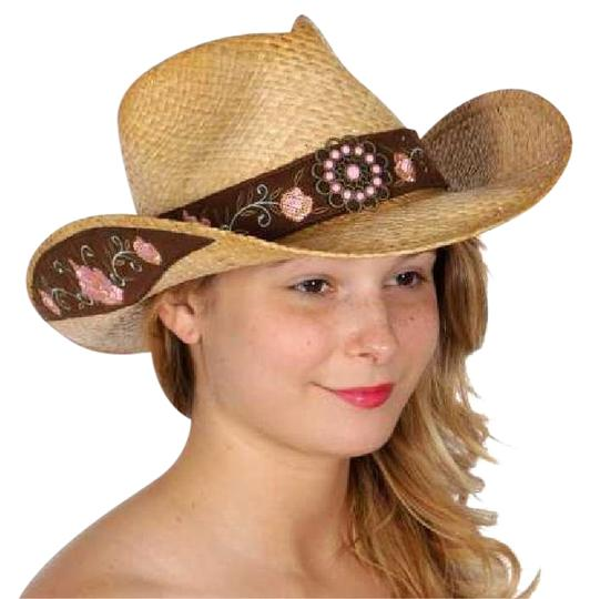 Preload https://img-static.tradesy.com/item/21356698/neutral-floral-band-raffia-hat-tea-stained-hat-0-1-540-540.jpg