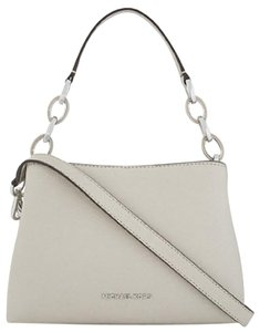 Michael Kors 30s6gs7s2l Brown 190049139868 Mk Portia Satchel in pearl gray