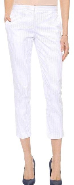 Item - White Blue Stripe Pants Capri/Cropped Jeans Size 25 (2, XS)