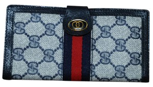 Gucci Auth Vintage Gucci Accessory Collection Web Checkbook/IPhone Wallet
