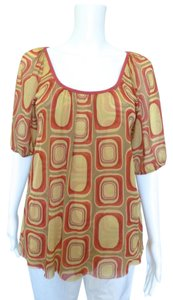 Sweet Pea by Stacy Frati Modern Retro Square Top Red