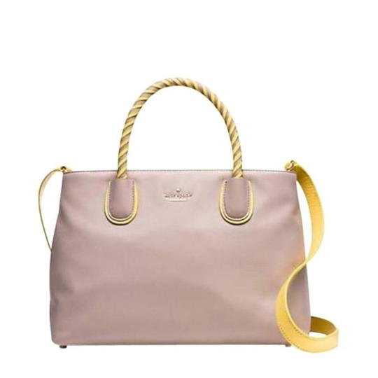 Preload https://img-static.tradesy.com/item/21357317/kate-spade-woods-drive-bodie-tote-taupe-and-yellow-satchel-0-1-540-540.jpg