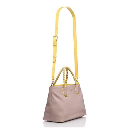 Kate Spade Satchel in Taupe & Yellow Image 4
