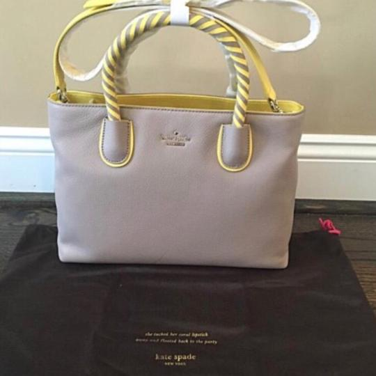 Kate Spade Satchel in Taupe & Yellow Image 5