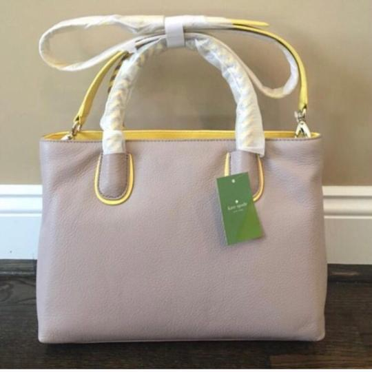 Kate Spade Satchel in Taupe & Yellow Image 6