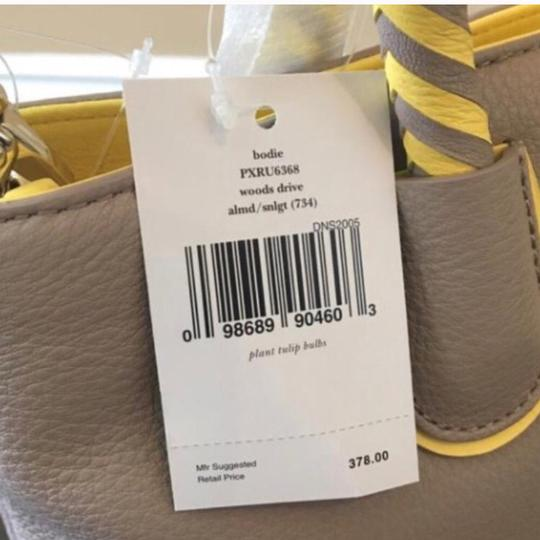 Kate Spade Satchel in Taupe & Yellow Image 8