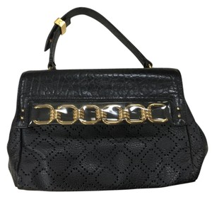 Marc Jacobs Leather Chain Satchel in Black