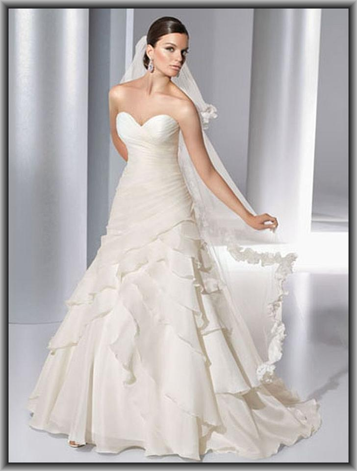 Demetrios Organza 3137 Wedding Dress Size 14 (L) - Tradesy