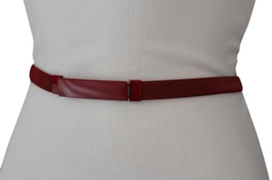 Other Women Narrow Belt Thin Hip High Waist Red Elastic Metal Plus Size