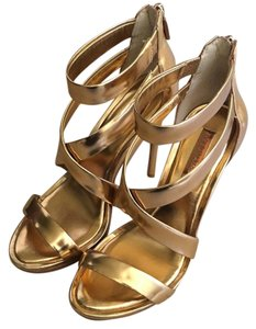 BCBGMAXAZRIA Gold / Rose gold Platforms