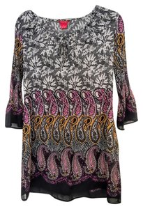 Sunny Leigh short dress Black, White, Purple Gold Boho Paisley 3/4 Sleeves on Tradesy