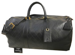 Chanel Boy Double Flap Jumbo Maxi Black Travel Bag