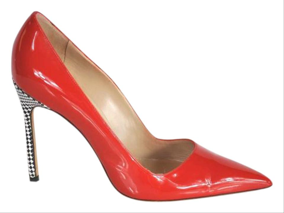 Manolo Red Blahnik Red Manolo Patent Leather Checkered Pumps d1097f