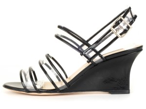 Manolo Blahnik clear & black Sandals