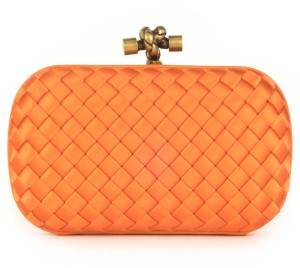 Bottega Veneta orange Clutch