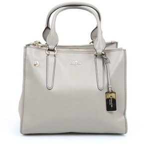 Coach Leather Tote Gold Shoulder Bag
