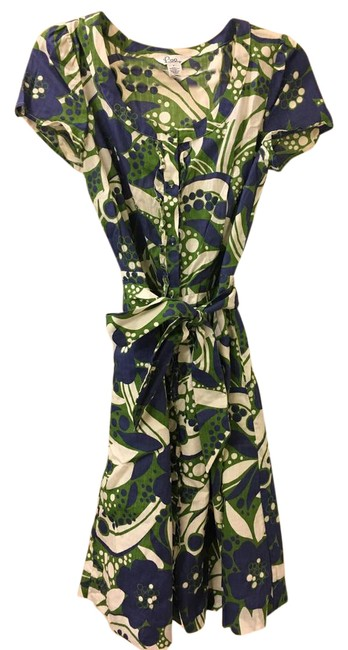 Preload https://img-static.tradesy.com/item/21357939/lilly-pulitzer-green-navy-and-ivory-mid-length-cocktail-dress-size-8-m-0-2-650-650.jpg