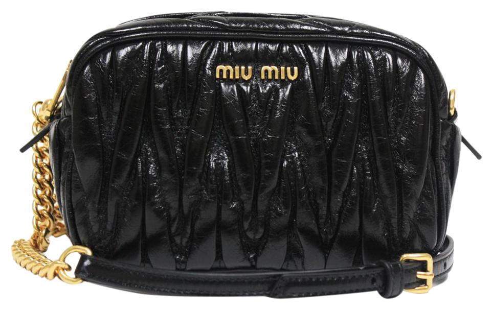 Miu Miu Matelasse Chain 5bh634 Black Leather Cross Body Bag - Tradesy 5f5bca9787aa8