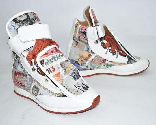 Vivienne Westwood Wedge Sneaker Lace Up white money print Athletic Image 2