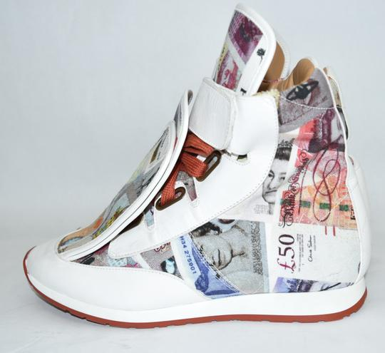 Vivienne Westwood Wedge Sneaker Lace Up white money print Athletic Image 3