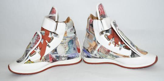 Vivienne Westwood Wedge Sneaker Lace Up white money print Athletic Image 7