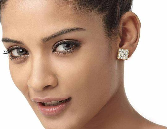 Jewelry Unlimited 14K Yellow Gold 11MM Round Cut Genuine Diamond Square Stud Earrings 1 Image 1