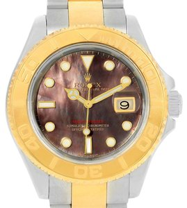 Rolex Rolex Yachtmaster Steel 18K Yellow Gold MOP Dial Mens Watch 16623
