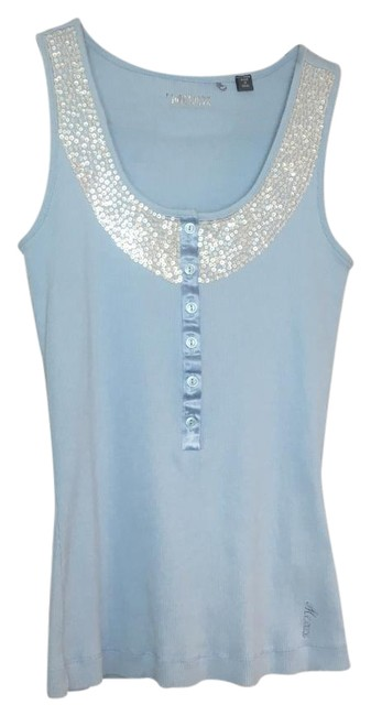 Preload https://img-static.tradesy.com/item/21358248/mexx-baby-blue-with-silver-sequence-small-tank-topcami-size-4-s-0-1-650-650.jpg