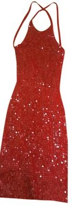 Trendey Collection short dress Red Vintage sequin dress. on Tradesy