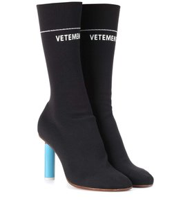 Vetements Ankle Socks Designer Black Boots