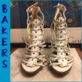 Bakers White/Gold Sandals Image 1