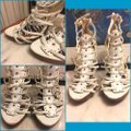 Bakers White/Gold Sandals Image 2