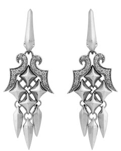Stephen Webster Stephen Webster Superstud diamond dangle earrings in sterling silver