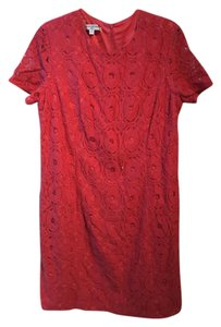 Evan Picone short dress Red Lace Shift Shift on Tradesy