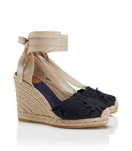 Tory Burch Wedge Slip On BLUE NAVY Boots