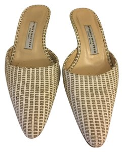 Stubbs & Wootton White and Beige Wedges