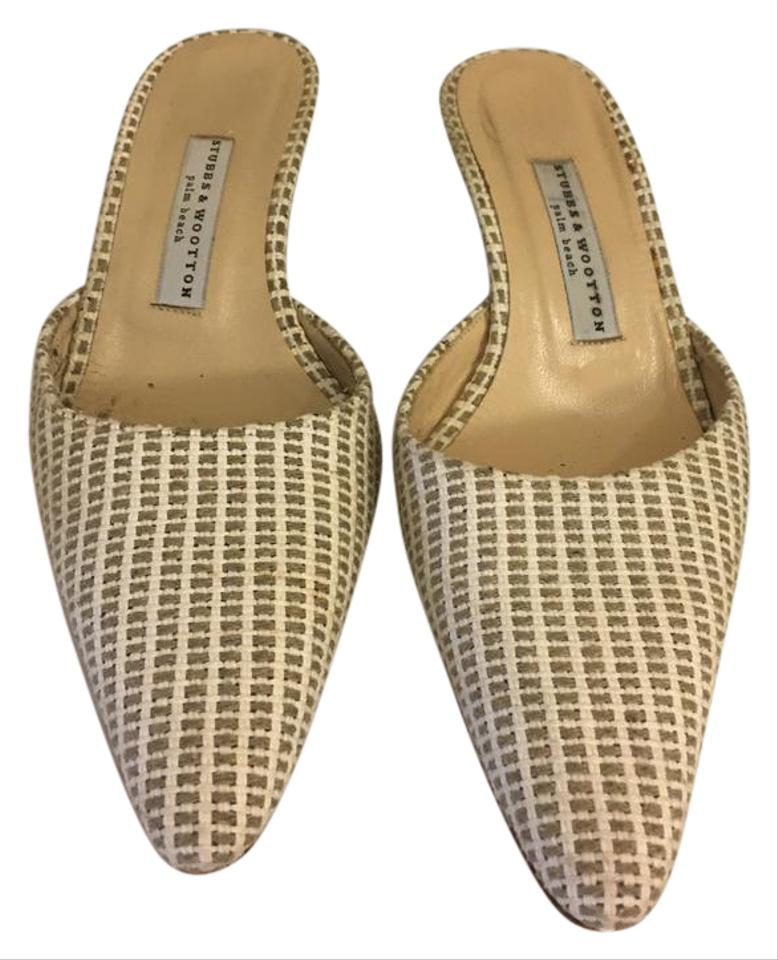 Stubbs & Wootton White and Wedges Beige Sw Wedges and 22c2eb